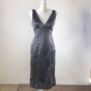 bebe Dresses - Bebe gray dress with lace